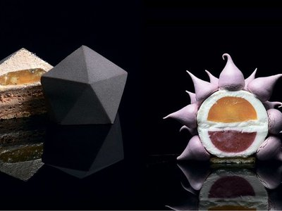 Cómo preparar en casa las extraordinarias tartas geométricas de Dinara Kasko