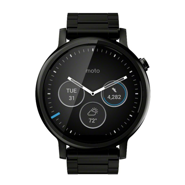 Moto 360 2nd Gen 46mm Black Front