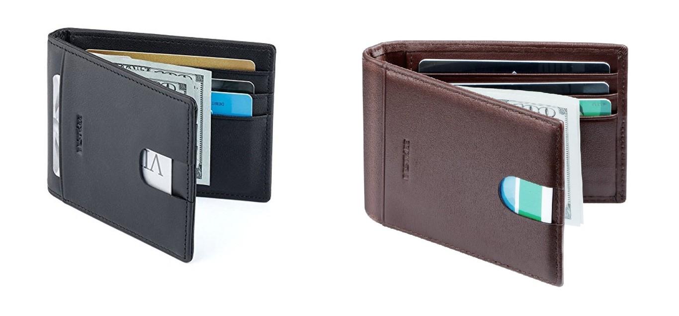 177ca73d9 Cartera billetera de cuero con sistema Rfid antirrobo barata desde 16,99  euros en Ama
