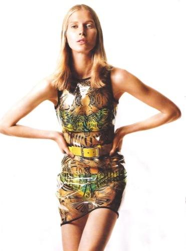 Los vestidos de moda para esta Primavera-Verano 2010. Versace