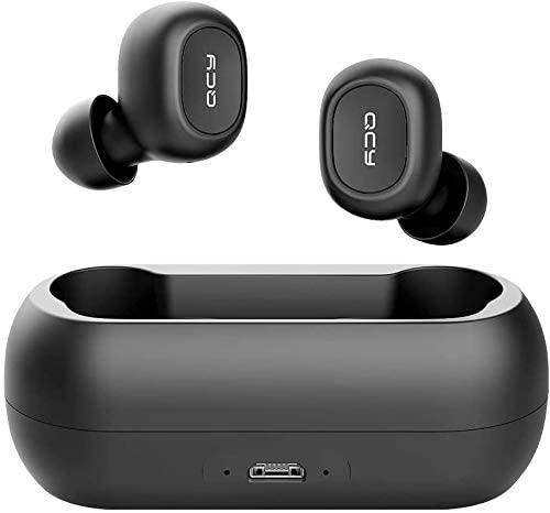 QCY T1C, audiófonos inalámbricos - Negro