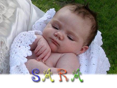 Los nombres más utilizados en España: Sara