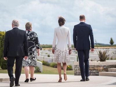 Kate Middleton es el centro de atención durante el centenario de la Batalla de Passchendaele