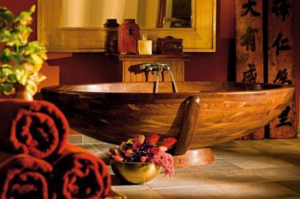 La calidez de la madera en el baño
