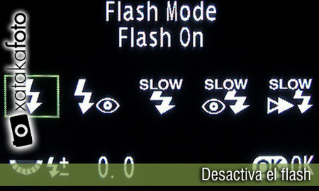 Desactiva el flash