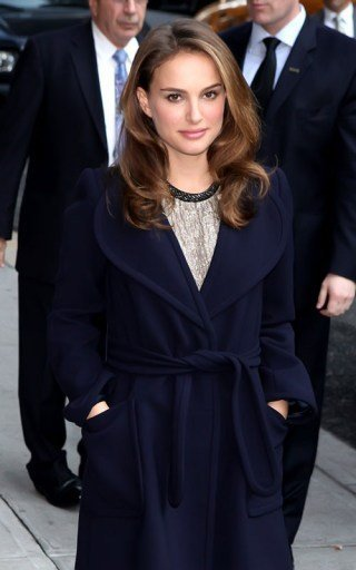 El look de Natalie Portman en el show de Letterman