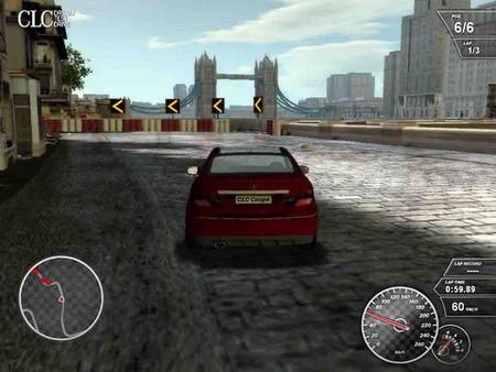 Prueba un Mercedes CLC en una carrera, aunque sea en un videojuego