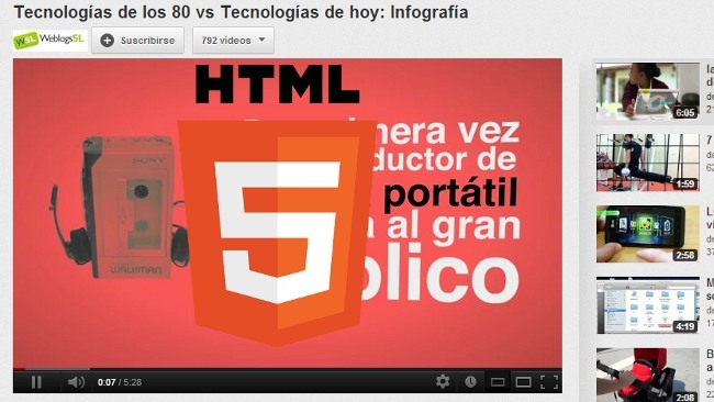 HTML5ify, para sustuir los vídeos en flash por su alternativa en HTML5