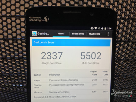 Geekbench Snapdragon 820