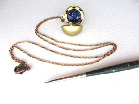 Miniature Astromony Oil Painting Jewelry Rustic Lockets Khara Ledonne 19