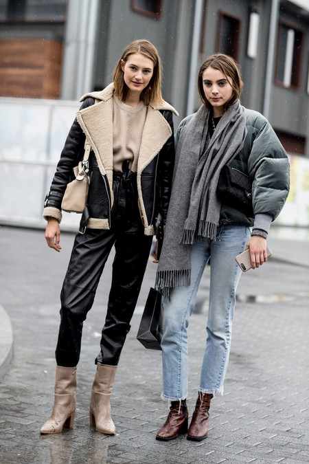 como llevar abrigo de borreguito mujer