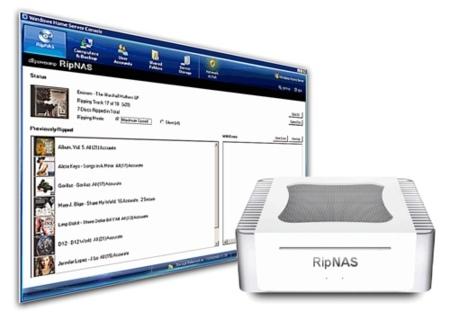 RipNAS, almacenamiento de música en red