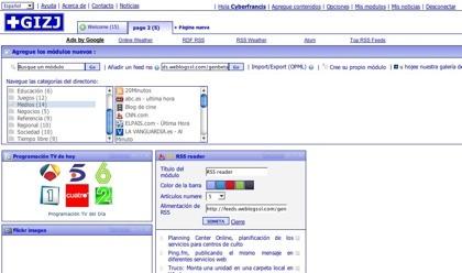 Gizj.com, nueva opción para tener nuestra página de inicio personalizada