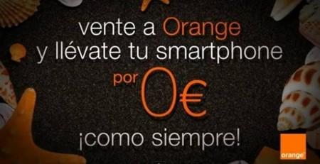 Móviles a cero euros con Orange