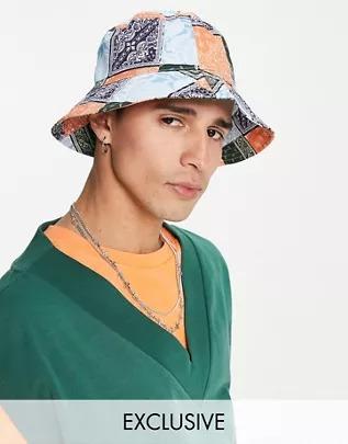 Sombrero de bandana de tejido reciclado de Reclaimed Vintage Inspired