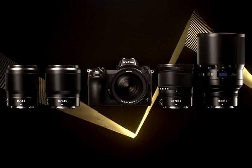 Así son los objetivos Nikkor Z 24,70 mm ƒ4 S, 50 mm ƒ1.8 S y 35 mm ƒ1.8 S, y el adaptador FTZ del nuevo sistema Nikon Z