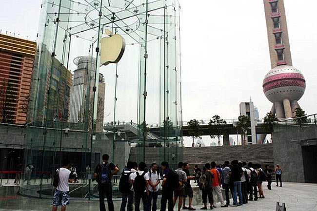 apple store shangai china tienda