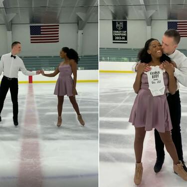 El bonito vídeo viral de una pareja de patinadores profesionales anunciando que serán padres
