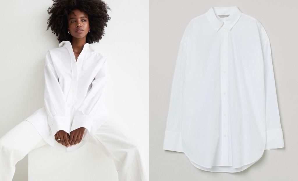 Camisa en popelina de algodón