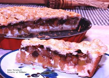Receta: Tarta de crema pastelera y manzanas caramelizadas