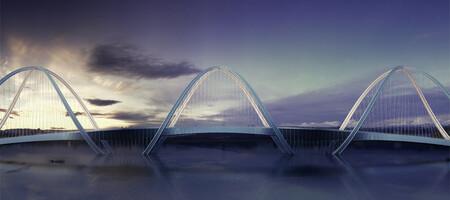 El puente de San Shan que se extiende sobre el río Gui