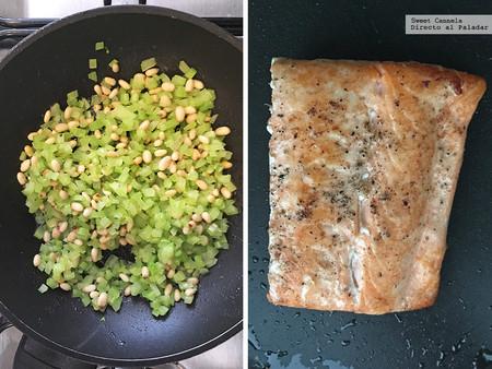 Salmon Con Pinones