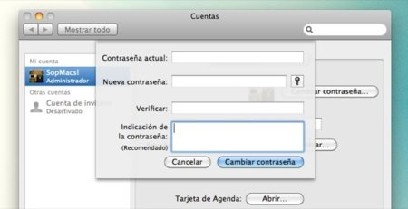 Cómo cambiar la contraseña de usuario de Mac OS X si la hemos olvidado
