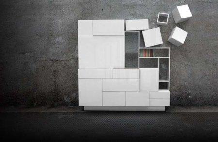Un mueble de almacenaje que se expande