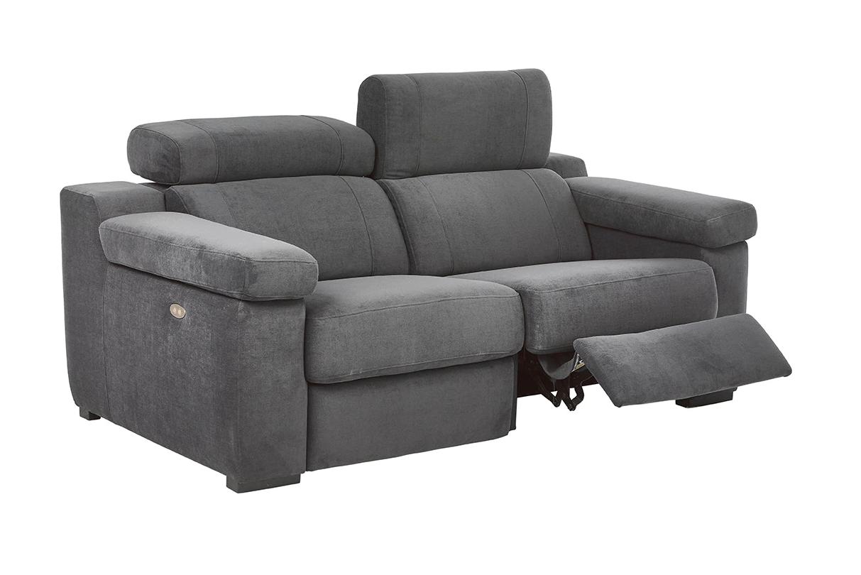 Sofá tapizado de 2 plazas con 2 asientos relax eléctricos City