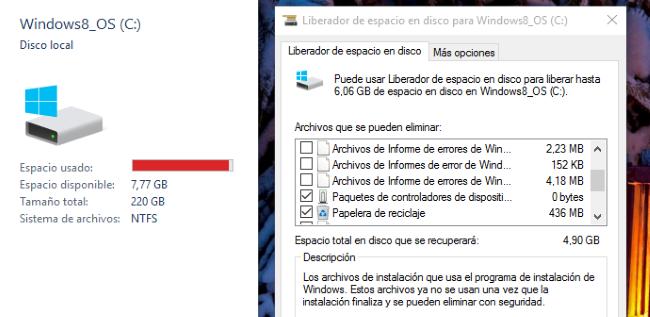 Si instalaste la actualización de noviembre de Windows 10, puedes liberar hasta 20 GB de archivos temporales