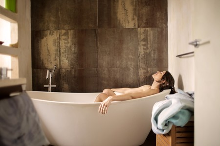 Woman Lying On Bathtub 3776151