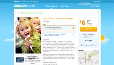 Amazon también entra en el mercado de las ofertas locales con AmazonLocal