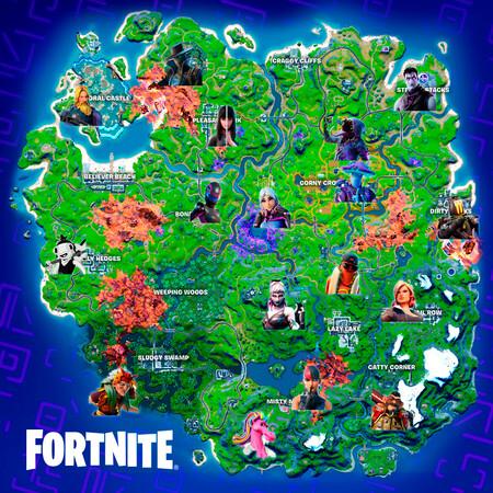 Mapa Fortnite Npc Temporada 8 Ubicacion