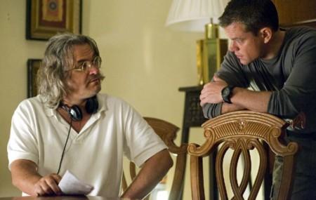 Paul Greengrass y Matt Damon en una de sus colaboraciones