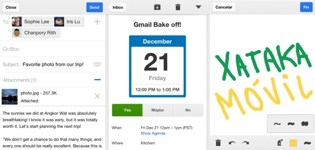 Gmail 2.0 para iPhone y iPad