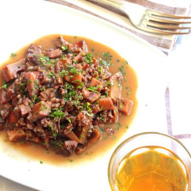 Receta de arroz caldoso con níscalos