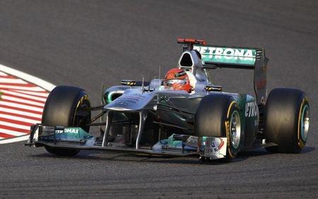 Michael Schumacher, el piloto de más edad en liderar un Gran Premio de Fórmula 1 desde 1970