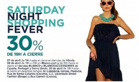Paga un 30% menos en Blanco  con tus compras hoy en la 'Saturday Night Shopping Fever'