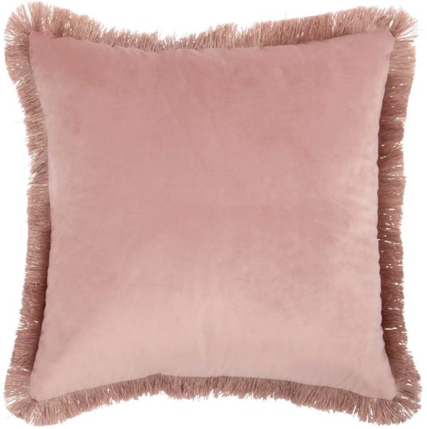 Cojín de terciopelo rosa 45x45