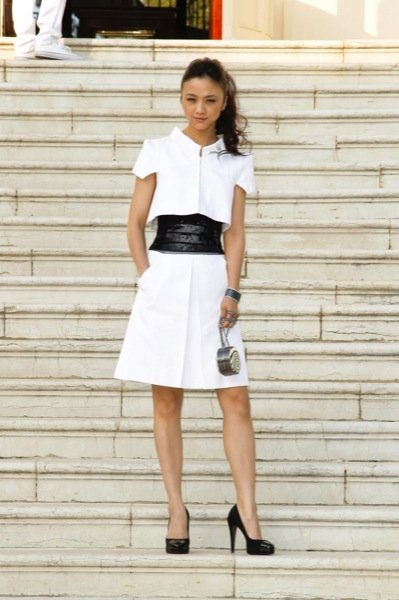 Tang Wei Chanel Crucero front row