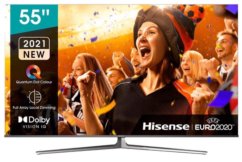 "TV ULED 55"" Hisense 55U8GQ - 4K 120Hz, Full Array Local Dimming, IMAX, HDR10+, Dolby Vision/Atmos"