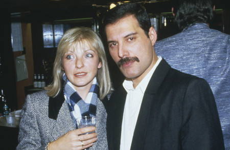 Freddie Mercury 1946 1991 Of Queen Attends Fashion Aid At The Royal Albert Hall In London With His Friend Mary Austin 5th November 1985 Photo By Dave Hogangetty Images
