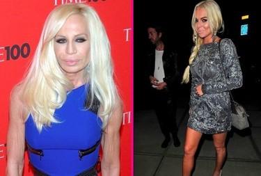 Separadas al nacer: Lindsay Lohan vs. Donatella Versace