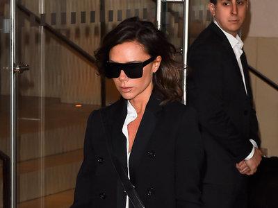 Tras el escándalo de la familia Beckham, Victoria se deja ver por las calles de Nueva York vestida de ¿luto?
