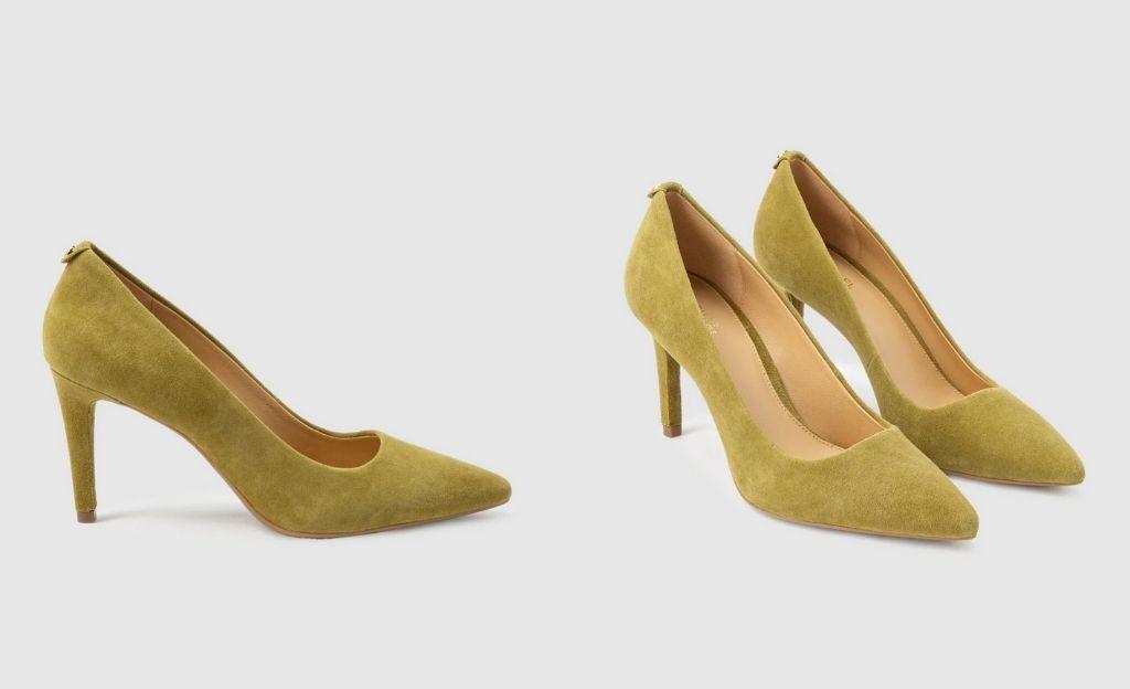 Zapatos de salón de mujer Michael Kors en ante verde