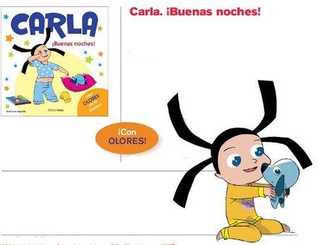 """Nuevo libro con olores: """"Carla ¡Buenas noches!"""""""
