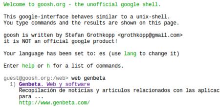Goosh: Google desde la línea de comandos... y un poco más