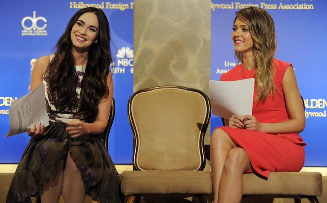 Megan Fox Jessica Alba Globos de Oro