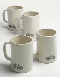 Preciosa vajilla, ideal para los amantes de las bicicletas