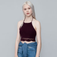 Crop top de crochet
